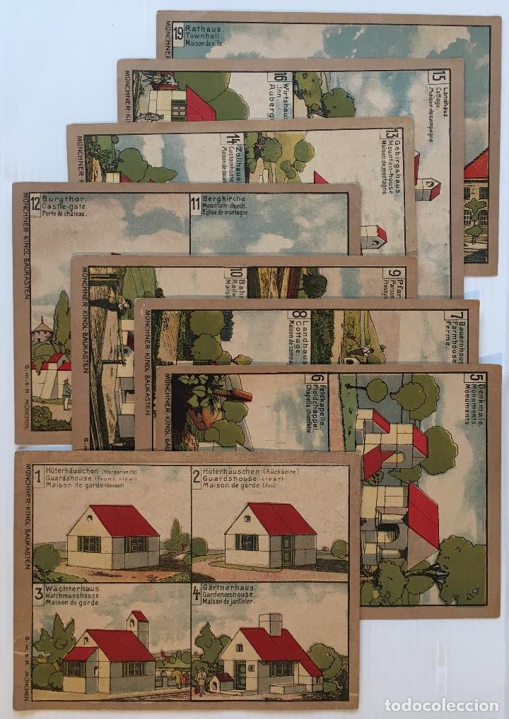 Juegos antiguos: ANTÍGUO JUEGO DE CONSTRUCCIÓN. MÜNCHNER KINDL-BAUKASTEN. VER FOTOS - Foto 4 - 153637374