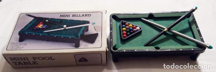 Juegos antiguos: Mini mesa de billa. Mini Billard. Mini Pool table - Foto 2 - 155603146