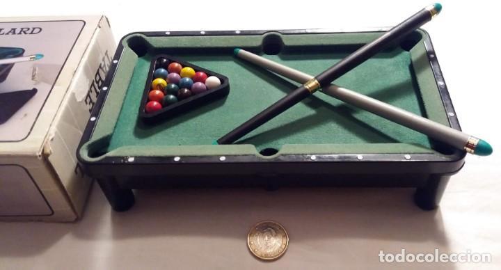 Juegos antiguos: Mini mesa de billa. Mini Billard. Mini Pool table - Foto 3 - 155603146