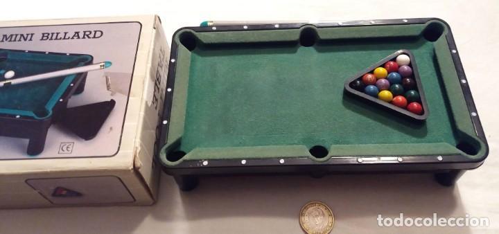 Juegos antiguos: Mini mesa de billa. Mini Billard. Mini Pool table - Foto 4 - 155603146
