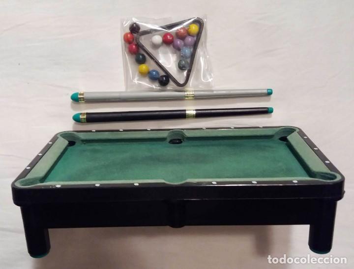 Juegos antiguos: Mini mesa de billa. Mini Billard. Mini Pool table - Foto 5 - 155603146