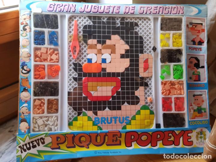 ANTIGUO JUEGO DE CONSTRUCCION DE POPEYE DE PIQUE GRAN JUGUETE DE CREACION AÑOS 70 (Juguetes - Juegos - Otros)