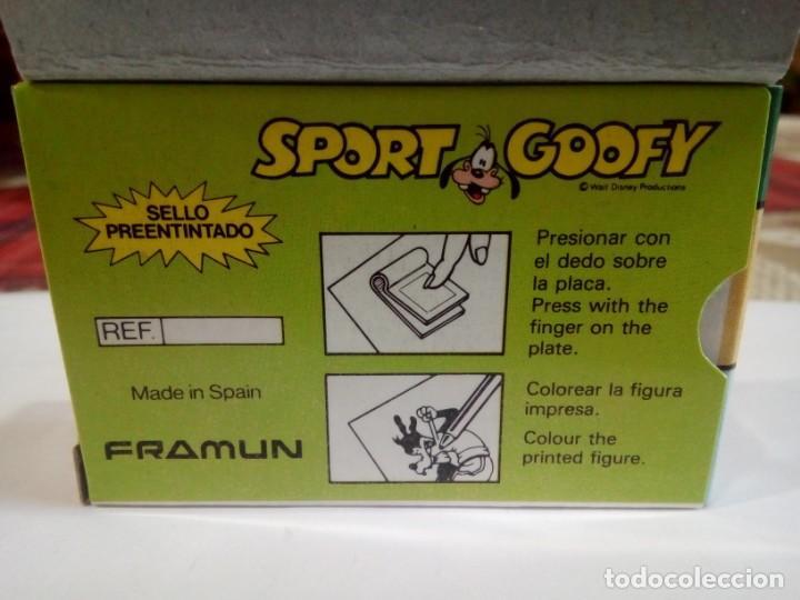 Juegos antiguos: SELLO DE IMPRIMIR DE GOOFY FABRICADO POR FRAMUN - Foto 5 - 159632570