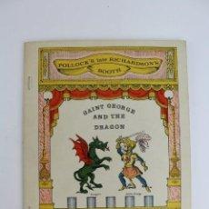 Juegos antiguos: TEATRO TEATRILLO .POLLOCK'K LATE RICHARDSON'S BOOTH.SAINT GEORGE AND THE DRAGON.AÑO 1971.. Lote 163702742