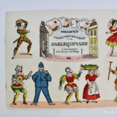 Juegos antiguos: OBRA PARA TEATRO O TEATRILLO. ARLEQUINADE .EDITORIAL POLLOCK'S. AÑO 1972.. Lote 163716638
