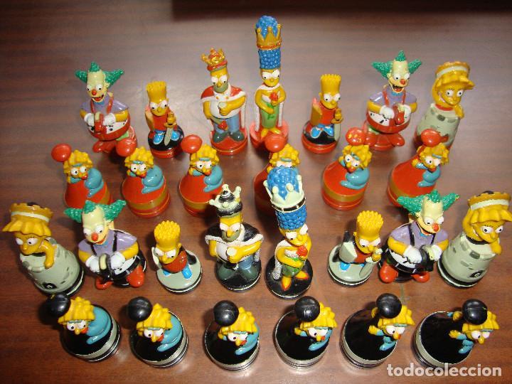 Juegos antiguos: 27 FICHAS DE AJEDREZ DE LOS SIMPSON EN PERFECTO ESTADO VER FOTOS - Foto 2 - 165238654