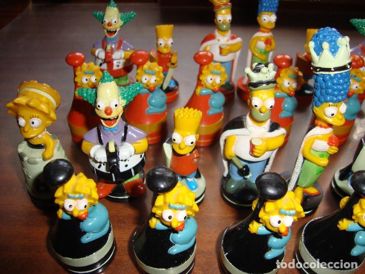Juegos antiguos: 27 FICHAS DE AJEDREZ DE LOS SIMPSON EN PERFECTO ESTADO VER FOTOS - Foto 3 - 165238654