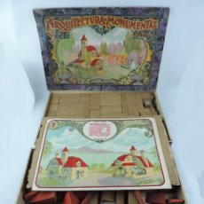 Juegos antiguos: JUEGO DE CONSTRUCCION, ARQUITECTURA MONUMENTAL MI VILLA, AÑO 1910 / 20, JUEGO DE ARQUITECTURA DE PIE. Lote 166109194