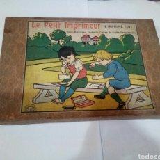 Juegos antiguos: ANTIGUO JUEGO DE IMPRENTA LE PETIT IMPRIMEUR. Lote 167613925