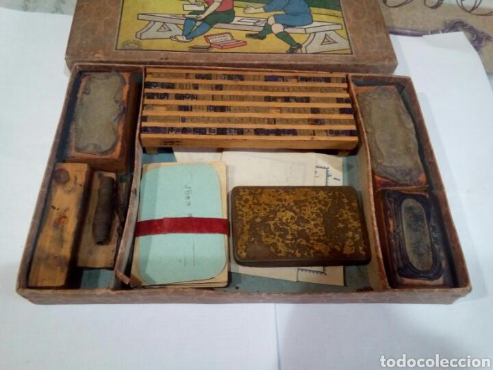 Juegos antiguos: ANTIGUO JUEGO DE IMPRENTA LE PETIT IMPRIMEUR - Foto 2 - 167613925
