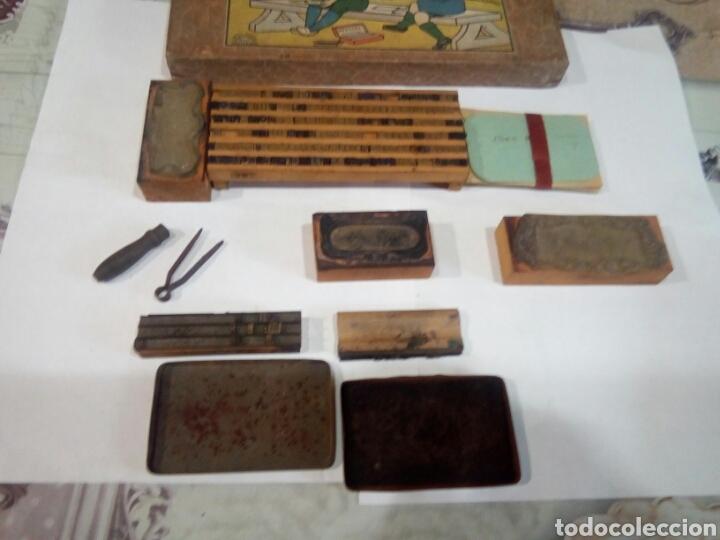Juegos antiguos: ANTIGUO JUEGO DE IMPRENTA LE PETIT IMPRIMEUR - Foto 3 - 167613925