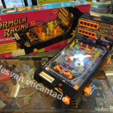 Juegos antiguos: FORMULA RACING. ANTIGUO PINBALL ELECTRÓNICO (A PILAS) EN CAJA ORIGINAL. PLAYGO 1995. FUNCIONA. Lote 180493412