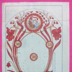 Juegos antiguos: LAMINA JUEGO ANTIGUA, AZUL, MIDE APROX. 25 X 40 CM, POSIBLEMENTE JUEGO PINBALL, CA1. Lote 168703468