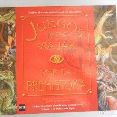 Juegos antiguos: JUEGOS PARA VIAJAR POR LA PREHISTORIA SM -2007. Lote 169349332
