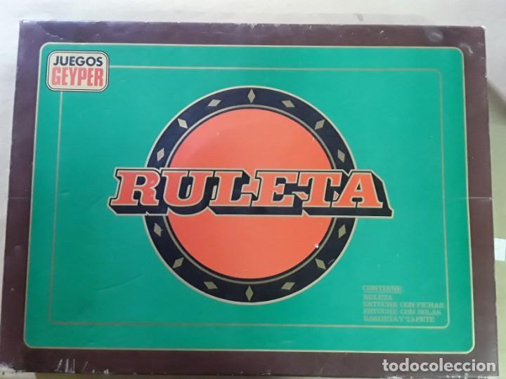 JUEGO DE RULETA ANTIGUO,GEYPER,REF 767,COMPLETO (Juguetes - Juegos - Otros)