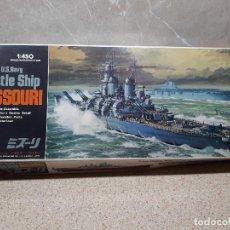 Juegos antiguos: LOTE DE MAQUETA BATTLE SHIP MISSOURI DE HASEGAWA, TANQUE PANZER, GUERREROS E INSTRUCCIONES DE OTRAS.. Lote 170322696
