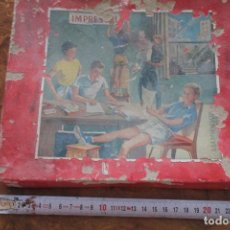Juegos antiguos: IMPRENTA INFANTIL AÑOS 50. IMPRESORES. Lote 171783904