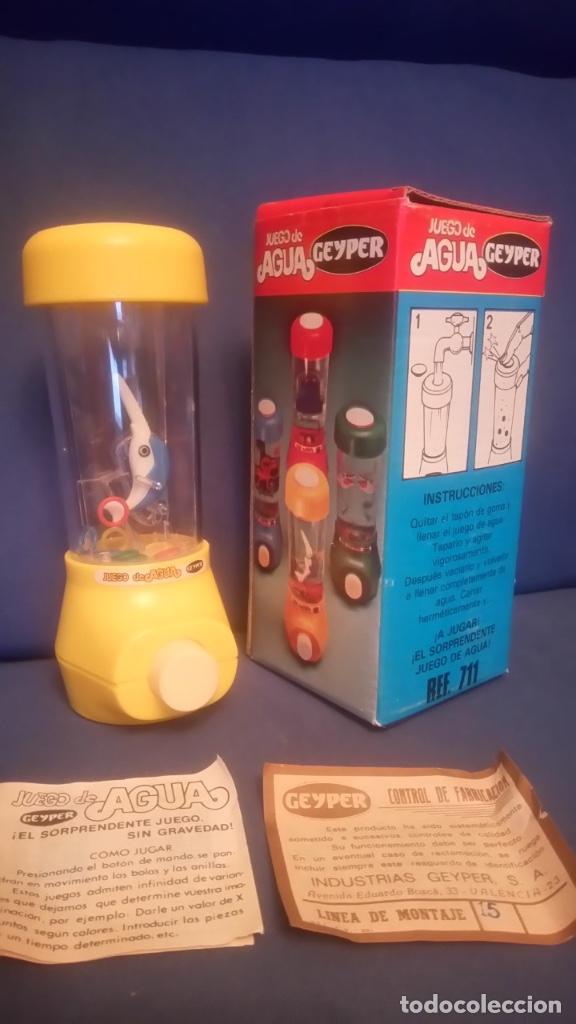 Juegos antiguos: Juego de agua Geyper. Ref 711 Nuevo con la caja original. Años 70/80. Dificil de encontrar - Foto 2 - 196534442