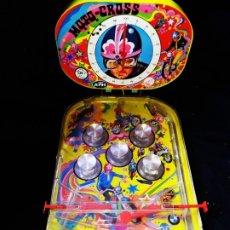 Juegos antiguos: PINBALL PIN BALL MOTO CROSS RIMA KTM PING BALL HOJALATA LITOGRAFIADA A COLOR RESTAURAR CREO ÚNICO. Lote 175531167