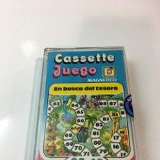 Juegos antiguos: CASSETE JUEGO MAGNETICO ,EN BUSCA DEL TESORO, CJ-10 CHICOS,CINTA, MAGNETICO JUEGO,DE VIAJE.FEBER. Lote 176566650