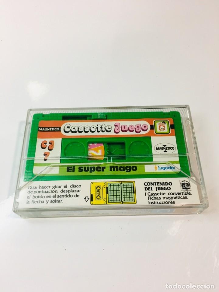 Juegos antiguos: Cassete Juego magnetico ,El Super mago , CJ-7 Chicos,cinta, magnetico Juego,de viaje.feber - Foto 2 - 176608007