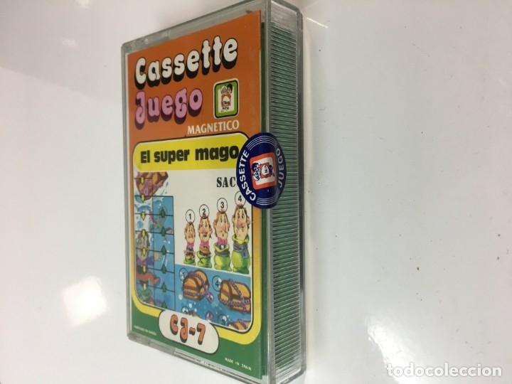 Juegos antiguos: Cassete Juego magnetico ,El Super mago , CJ-7 Chicos,cinta, magnetico Juego,de viaje.feber - Foto 7 - 176608007