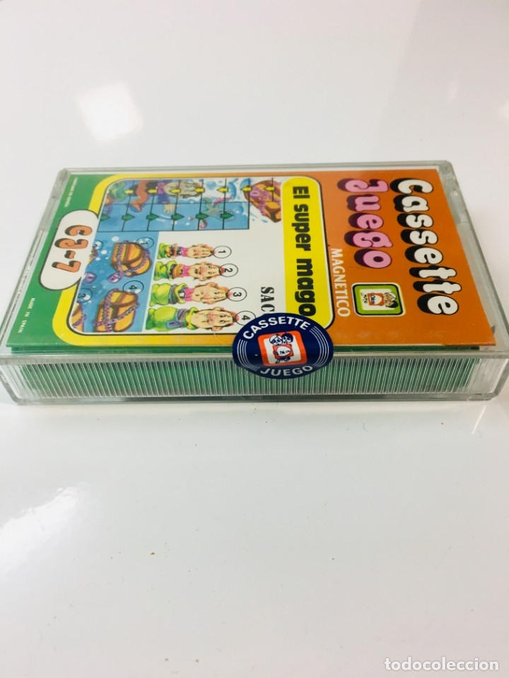 Juegos antiguos: Cassete Juego magnetico ,El Super mago , CJ-7 Chicos,cinta, magnetico Juego,de viaje.feber - Foto 3 - 176608007