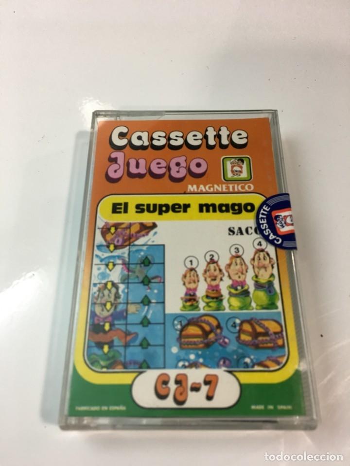 Juegos antiguos: Cassete Juego magnetico ,El Super mago , CJ-7 Chicos,cinta, magnetico Juego,de viaje.feber - Foto 5 - 176608007
