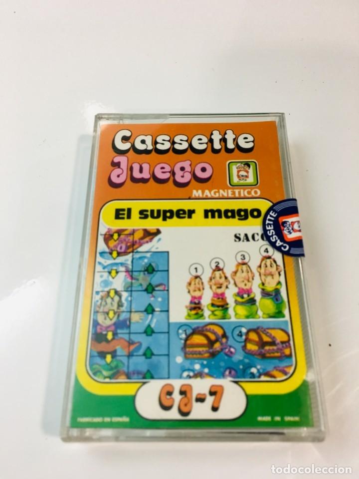 Juegos antiguos: Cassete Juego magnetico ,El Super mago , CJ-7 Chicos,cinta, magnetico Juego,de viaje.feber - Foto 8 - 176608007