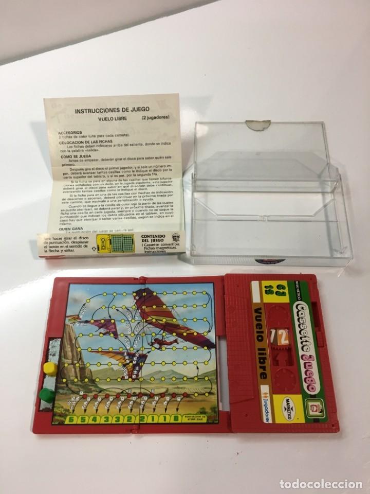 Juegos antiguos: Cassete Juego magnetico ,Vuelo Libre , CJ-12 Chicos,cinta, magnetico Juego,de viaje.feber - Foto 2 - 176608152