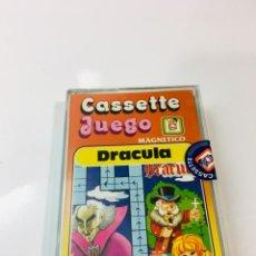 Juegos antiguos: CASSETE JUEGO MAGNETICO ,DRACULA , CJ-2 CHICOS,CINTA,FEBER. Lote 176608564