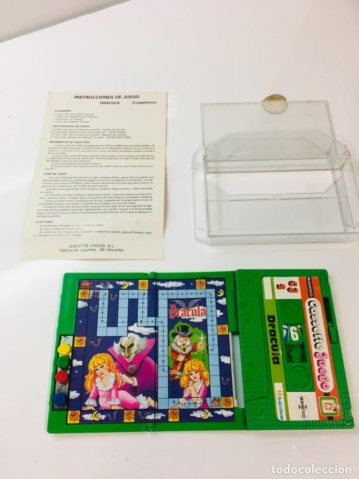 Juegos antiguos: Cassete Juego magnetico ,Dracula , CJ-2 Chicos,cinta,feber - Foto 5 - 176608564