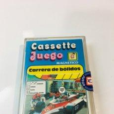 Juegos antiguos: CASSETE JUEGO MAGNETICO ,CARRERA DE BOLIDOS, CJ-8 CHICOS,CINTA, FEBER. Lote 176608630