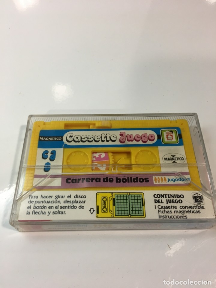 Juegos antiguos: Cassete Juego magnetico ,Carrera de Bolidos, CJ-8 Chicos,cinta, feber - Foto 2 - 176608630