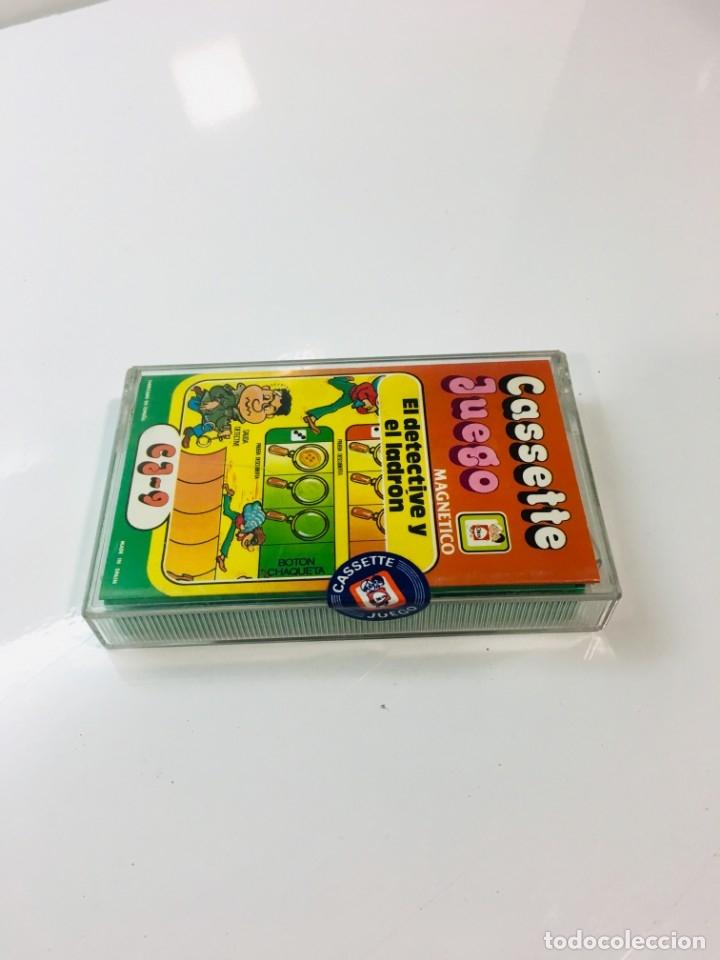 Juegos antiguos: Cassete chicos, Juego magnetico ,El detective y el ladron, CJ-9 Chicos,cinta, feber - Foto 6 - 176608679