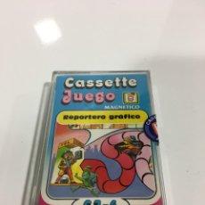 Juegos antiguos: CASSETE JUEGO MAGNETICO ,REPORTERO GRAFICO, CJ-6 CHICOS,CINTA, FEBER. Lote 176609897