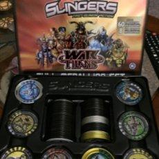 Juegos antiguos: SLINGERS TAZOS METAL FULL MEDALLION SET SERIE 1 FAMOSA 60+8 LTD EDITION. Lote 176786618