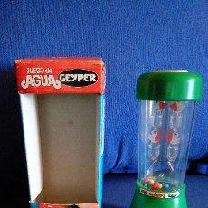 Juegos antiguos: JUEGO DE AGUA GEYPER. REF 713 NUEVO CON LA CAJA ORIGINAL. AÑOS 70/80. DIFICIL DE ENCONTRAR. Lote 176810759