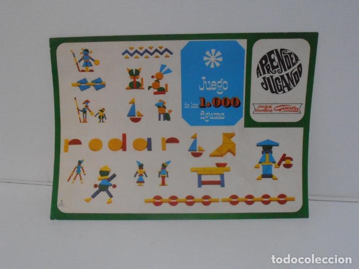 Juegos antiguos: JUEGO DE LAS 1000 FIGURAS, JUEGOS EDUCATIVOS GOULA, AÑOS 70 - Foto 4 - 176991669