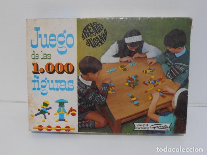 JUEGO DE LAS 1000 FIGURAS, JUEGOS EDUCATIVOS GOULA, AÑOS 70 (Juguetes - Juegos - Otros)
