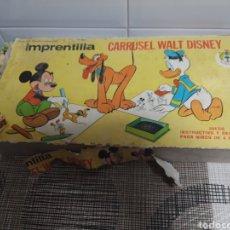 Juegos antiguos: IMPRENTILLA CARRUSEL DE WALT DISNEY. Lote 177839694