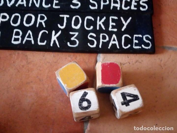 Juegos antiguos: juego de carreras de caballos madera, artesanal,años 70. - Foto 5 - 177956787
