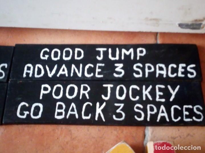 Juegos antiguos: juego de carreras de caballos madera, artesanal,años 70. - Foto 6 - 177956787