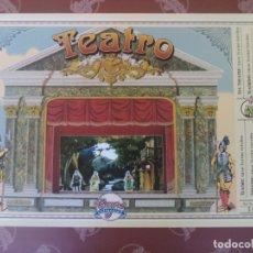 Juegos antiguos: TEATRO DE JUGUETE 53X45 CM DE FACHADA.CON TELON Y BASTIDOR DE BOCA.CON LA OBRA CAPERUCITA AZUL. Lote 178665743