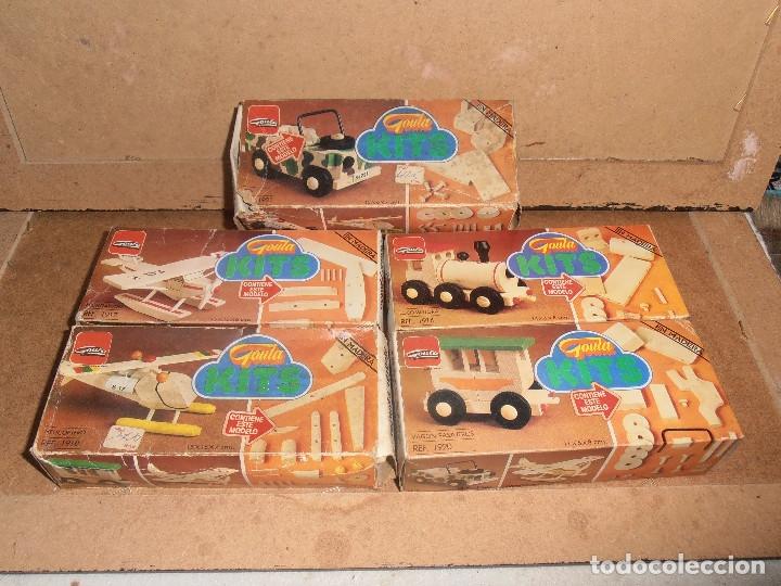 Juegos antiguos: 5 - JUGUETES DE MADERA - KITS - MARCA GOULA - Foto 2 - 86883152