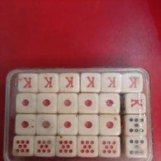 Juegos antiguos: 20 DADOS POKER VINTAGE. Lote 179397530
