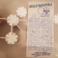 Juegos antiguos: ANTIGUO JUEGO REGALO PREMIUM DE BANCO ATLANTICO DISCO MONTABLE CONSTRUCCIONES AÑOS 70. Lote 179958673