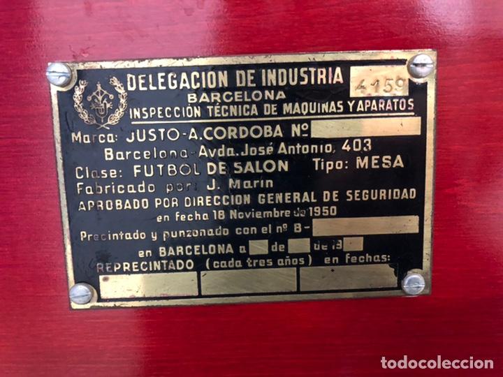 Juegos antiguos: Magnífico futbolín Córdoba en perfecto estado. Barça - Real Madrid, 1980 aprox. - Foto 11 - 182846535