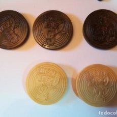 Juegos antiguos: 5 MASTER TAZO. DOS DEL NÚM 2 Y TRES DEL NÚM. 5. Lote 184100647