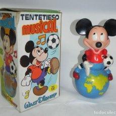 Juegos antiguos: TENTETIESO MUSICAL DE MICKEY. WALT DISNEY. EN SU CAJA ORIGINAL. MIDE 20 CMS APROX.. Lote 184688590